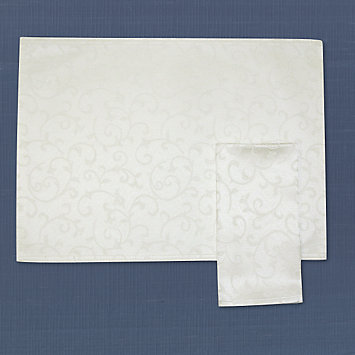 LENOX table linens  - Opal Innocence White Placemat
