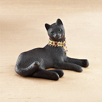 LENOX Figurines: Cats - Miss Chievous Jeweled Ebony Cat Figurine