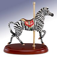 Antique Zebra Carousel Figurine by Lenox