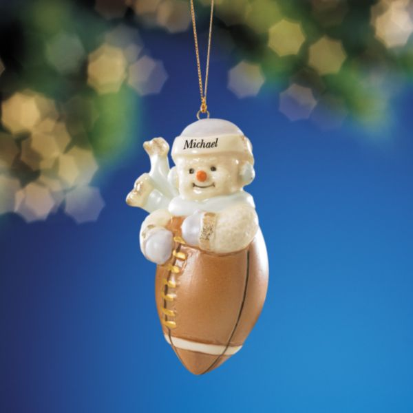 My Sporty Snowman Football Ornament by Lenox