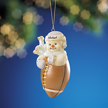 LENOX Lenox  - My Sporty Snowman Football Ornament