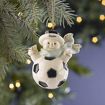 My Sporty Soccer Snowman Ornament by Lenox