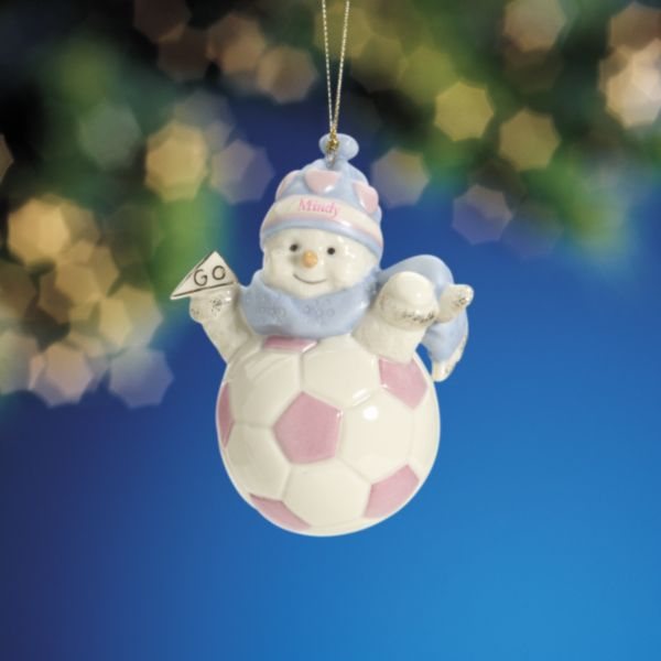 My Sporty Girl Soccer Snowman Ornament by Lenox