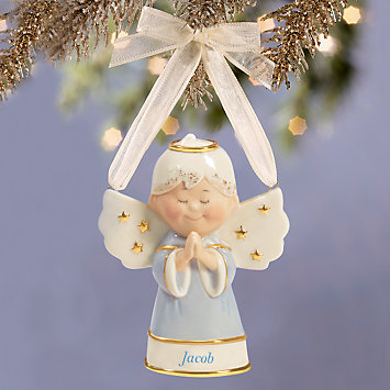 Sweet Angel Boy Ornament by Lenox