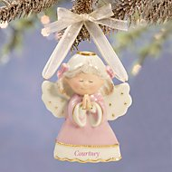 Sweet Angel Girl Ornament by Lenox