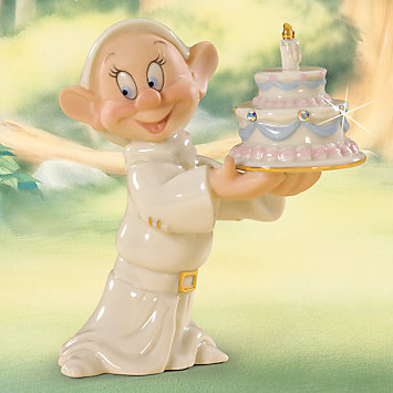 LENOX Figurines: Animated Characters - Disney's Dopey's Birthday Wish Figurine
