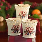 Winter Greetings® Pierced Votive Holder Set