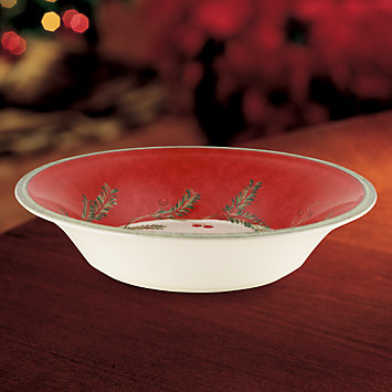 Holiday Wreath Individual Pasta Bowl