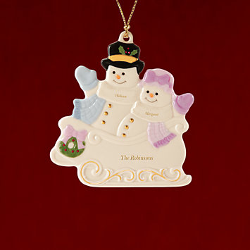 Couple's Warm Wishes To All Ornament by Lenox
