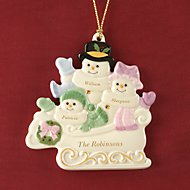 Warm Wishes To All Family of 3 Ornament by Lenox