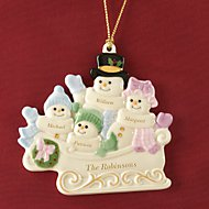 Warm Wishes To All Family of 4 Ornament by Lenox