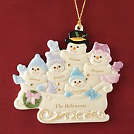 Warm Wishes To All Family of 5 Ornament by Lenox