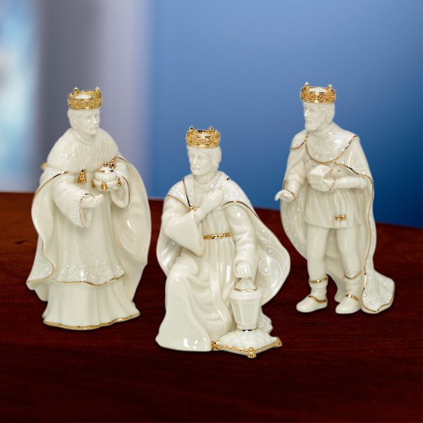 Innocence Nativity 3-piece Kings Figurine Set by Lenox