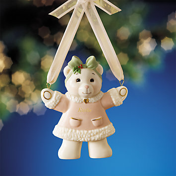 Teddy Bear Girl Ornament by Lenox