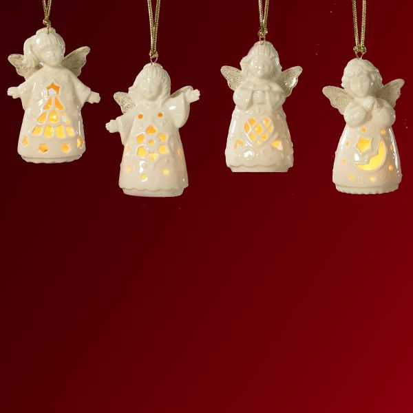 Angelites 4-piece Ornament Set by Lenox