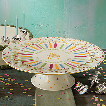 Candles & Confetti Singing Cake Plate by Lenox