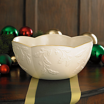 Holiday Heirloom Scalloped Bowl by Lenox