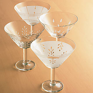 4 Lenox Wine Glasses