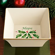 Holiday Square Hope Dish