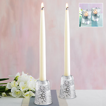 Heiress 2-piece Candlestick & Votive Set by Lenox