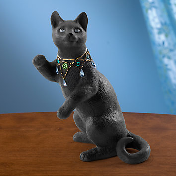 LENOX Figurines: Cats - Night Gazer Cat Figurine