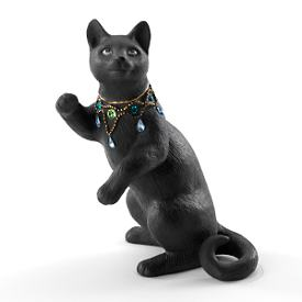 Night Gazer Cat Figurine