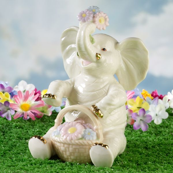 Sweet Spring Elephant Figurine by Lenox