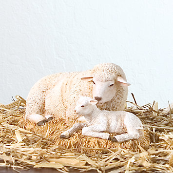 Thomas Blackshear's Nativity Sheep Figurine