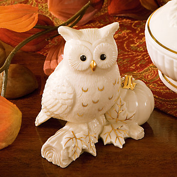The Autum Owl Figurine From Lenox