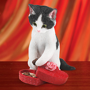 Sweet Surprise Cat Figurine