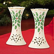 Holiday 2-piece Pierced Candlestick Holder Set by Lenox