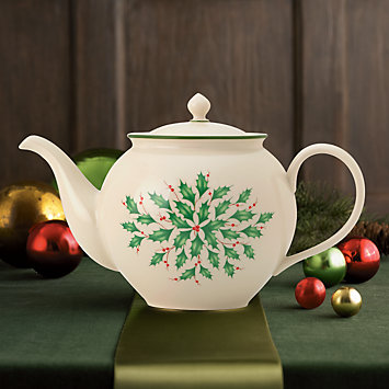 LENOX Overstock: Tea & Coffee Accessories - Holiday Teapot