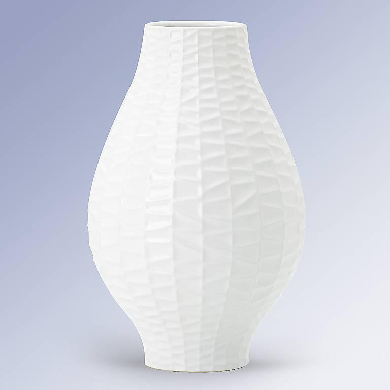 Jacquard White Vase by Dansk