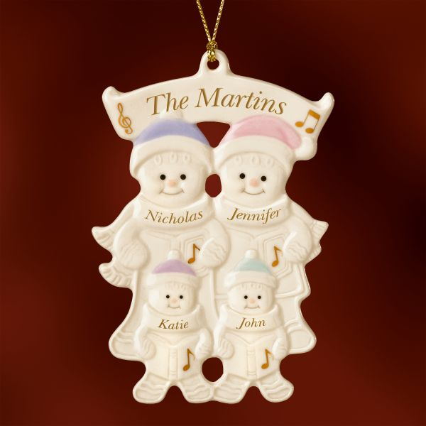 Family of 4 Warm Wishes Gingerbread Ornament by Lenox