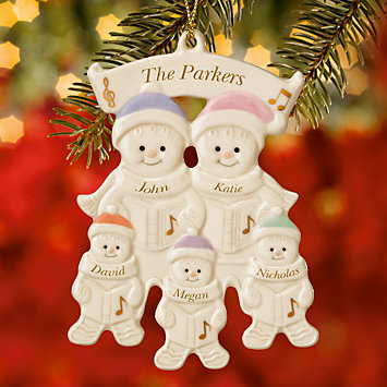 Family of 5 Warm Wishes Gingerbread Ornament by Lenox