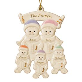 Family of 5 Warm Wishes Gingerbread Ornament
