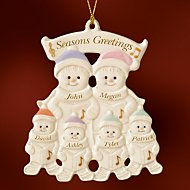 Family of 6 Warm Wishes Gingerbread Ornament by Lenox