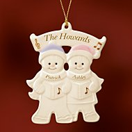 Couple's Warm Wishes Gingerbread Ornament by Lenox