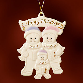 Family of 3 Warm Wishes Gingerbread Ornament by Lenox