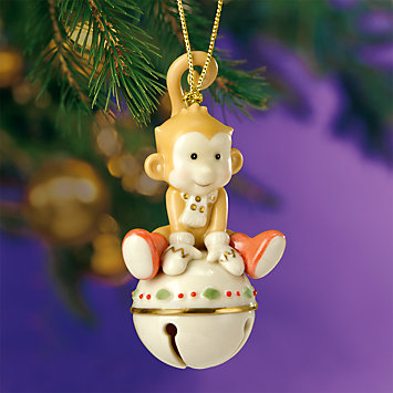 Monkeying Around Jingle Bell Ornament by Lenox