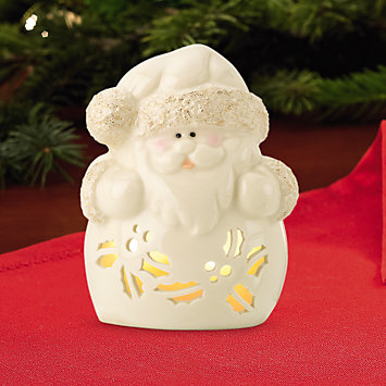 Seasonal Brites Santa Votive Holder