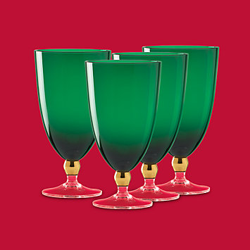Touch of Gold Ivy 4-piece Crystal Glass Set by Gorham®