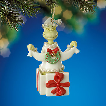 A Grinchy Gift Ornament by Lenox