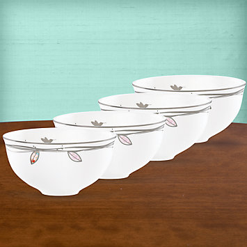 LENOX Bowls  - Silver Song 4-piece Dessert Bowl Set