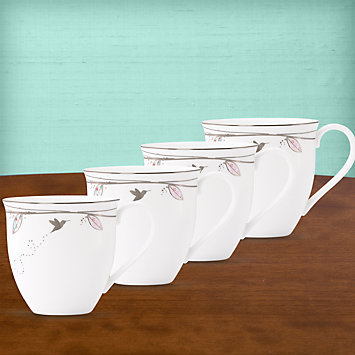 Silver Song Mugs, Set of 4