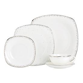 Silver Mist Square 5-piece Place Setting + BONUS
