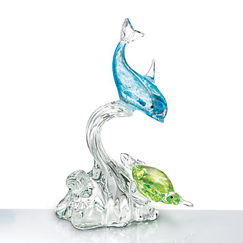 LENOX Figurines: Sea Animals - Dolphin Art Glass Figurine