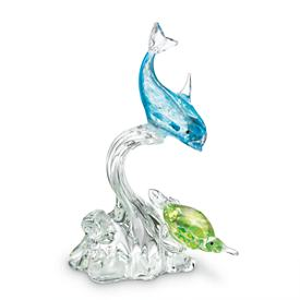 Dolphin Art Glass Figurine