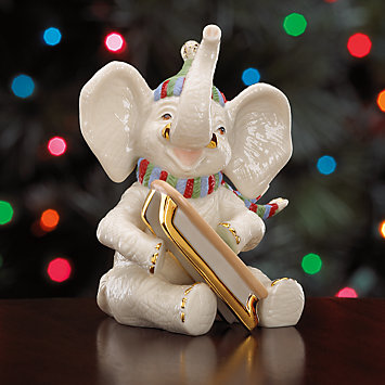 LENOX Figurines: Elephants - Snowy Day Elephant Figurine