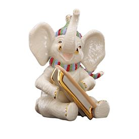 Snowy Day Elephant Figurine